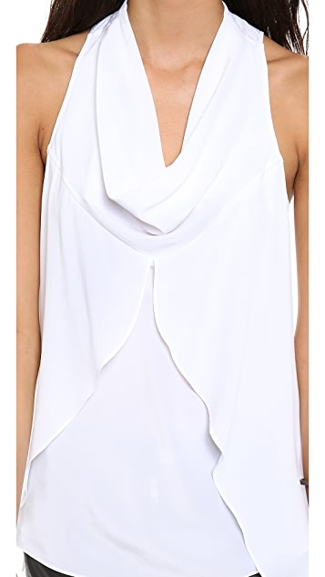 Cut25 by Yigal Azrouel Cowl Front Curtain Top
