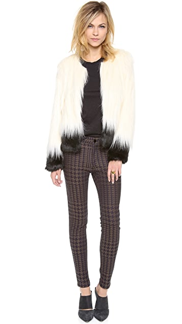Cut25 by Yigal Azrouel Houndstooth Skinny Pants