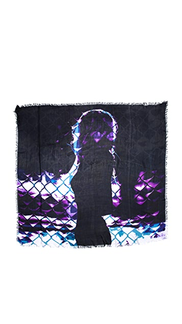 Cut25 by Yigal Azrouel Mysterious Fence Scarf