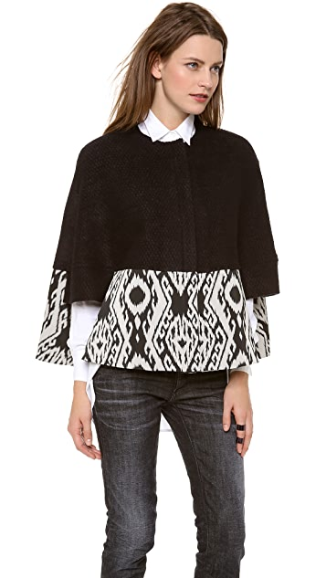 Cut25 by Yigal Azrouel Textured Cape