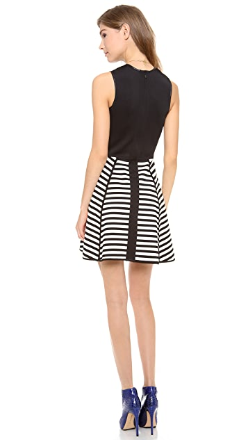 Cut25 by Yigal Azrouel Bold Stripe Techno Dress