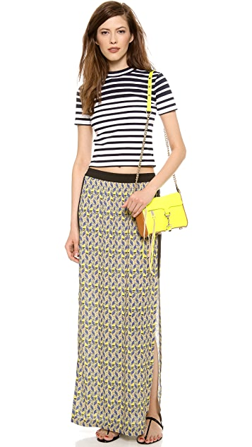 Cut25 by Yigal Azrouel Printed Long Skirt
