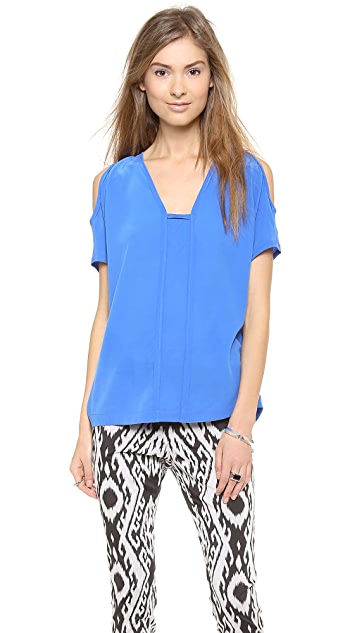 Cut25 by Yigal Azrouel Open Shoulder Center Insert Top