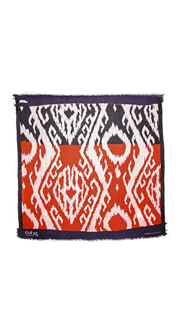 Cut25 by Yigal Azrouel Oversized Ikat Scarf