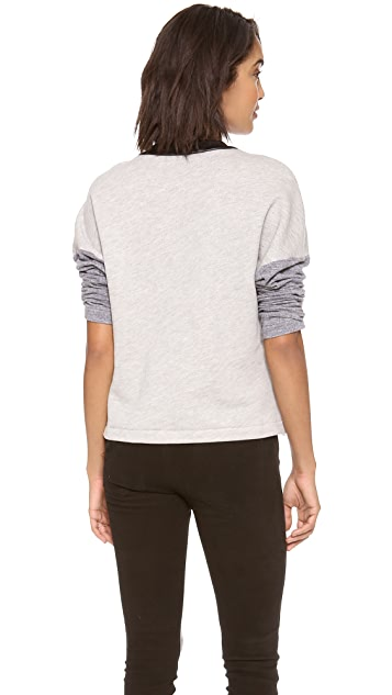 Cut25 by Yigal Azrouel Paneled Sweatshirt Top