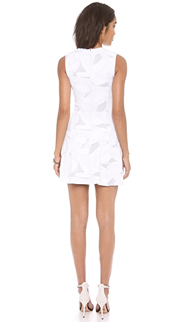 Cut25 by Yigal Azrouel Fit & Flare Geo Dress