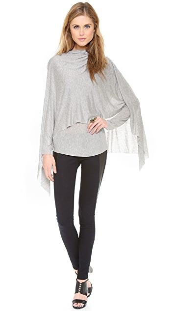 Cut25 by Yigal Azrouel Draped Layer Modal Top