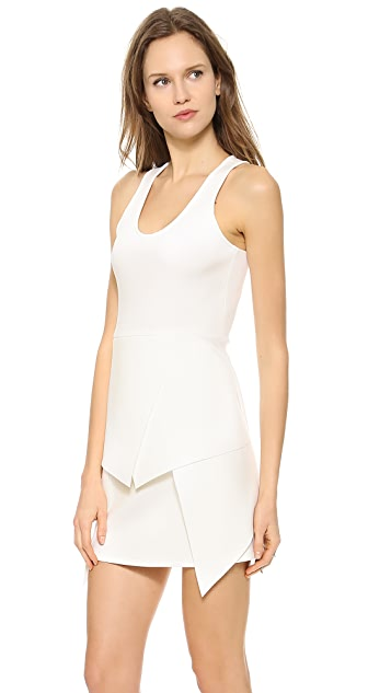 Cut25 by Yigal Azrouel Multi Layer Scuba Dress