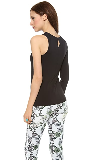 Cut25 by Yigal Azrouel One Sleeve Matte Jersey Top