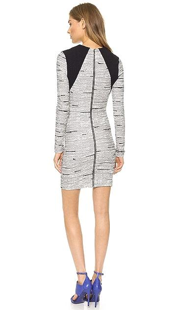 Cut25 by Yigal Azrouel Static Jacquard Knit Dress