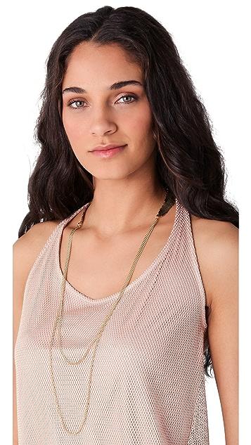 Cornelia Webb Feather Double Necklace