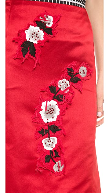 Creatures of the Wind Embellished Kick Back Skirt