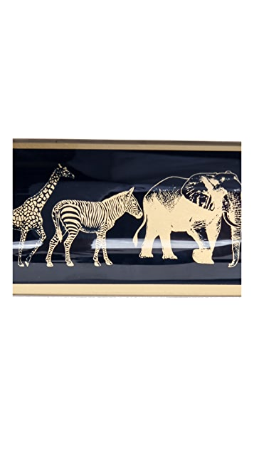 C. Wonder Animal Parade Glass Tray