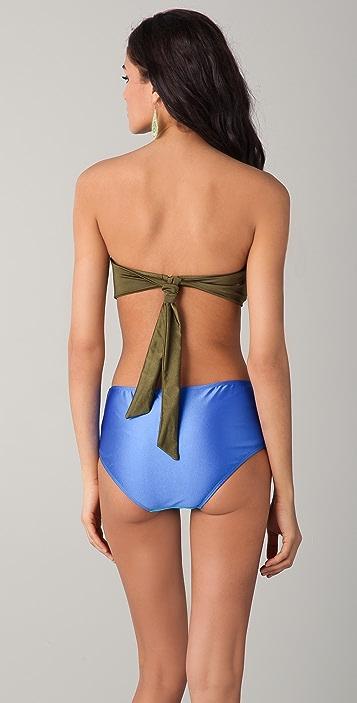 Cynthia Rowley Colorblock Bandeau Bikini Set