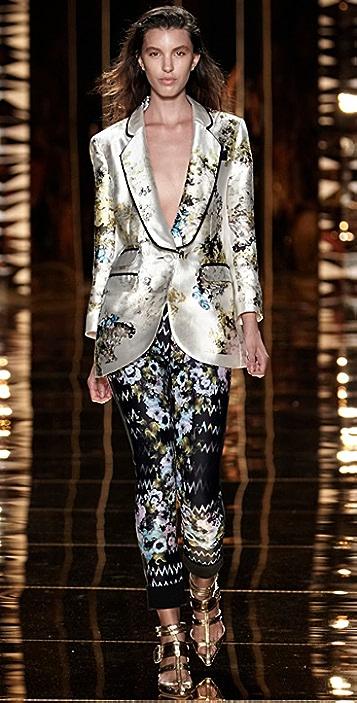 Cynthia Rowley Bouquet Print Tuxedo Jacket
