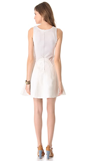 Cynthia Rowley Leather Combo Dress