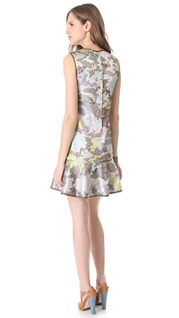 Cynthia Rowley Brocade Flounce Dress