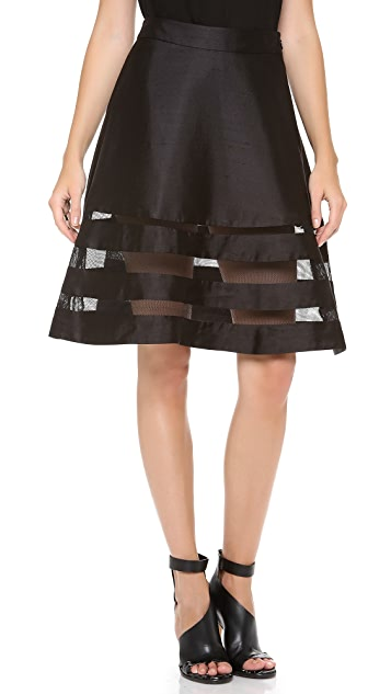 Cynthia Rowley Mesh Combo Circle Skirt