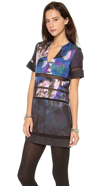 Cynthia Rowley Mesh Combo Dress