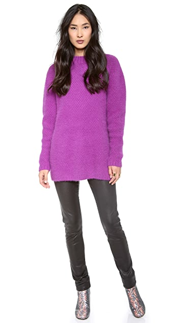 Cynthia Rowley Mock Neck Textured Sweater