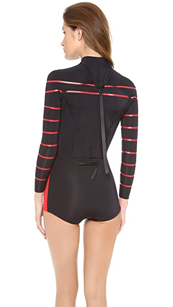 Cynthia Rowley Striped Wetsuit