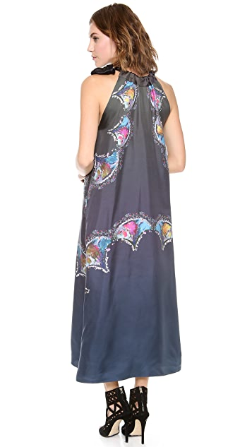Cynthia Rowley Side Tie Maxi Dress
