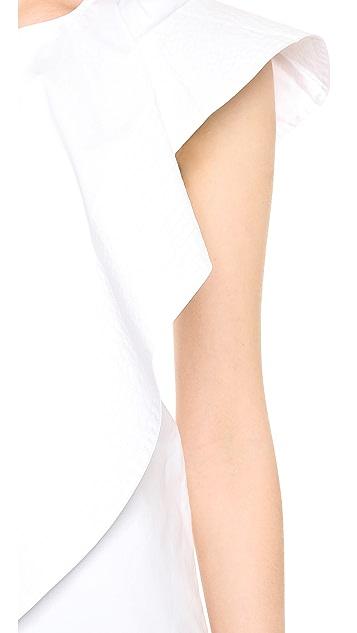 Cynthia Rowley Asymmetrical Ruffle Top
