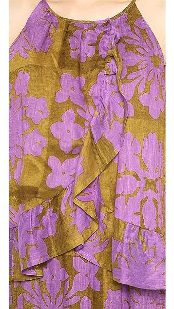 Cynthia Rowley Ruffle Bottom Camisole