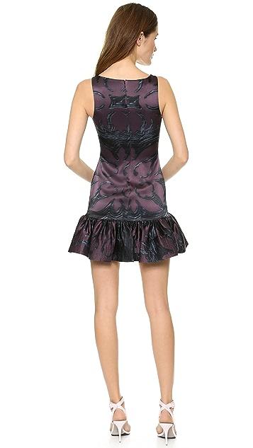 Cynthia Rowley Slim Flounce Dress