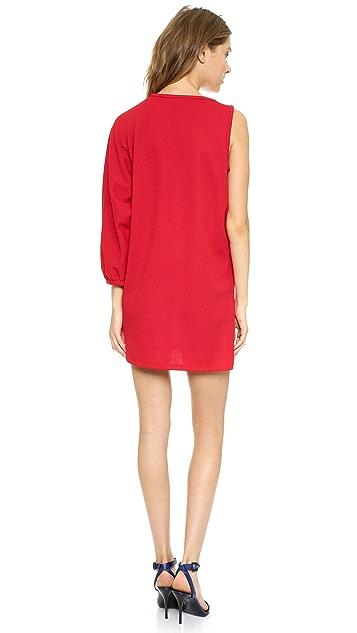 Cynthia Rowley Pique One Shoulder Tunic Dress