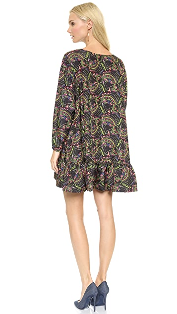 Cynthia Rowley Printed Flounce Dress