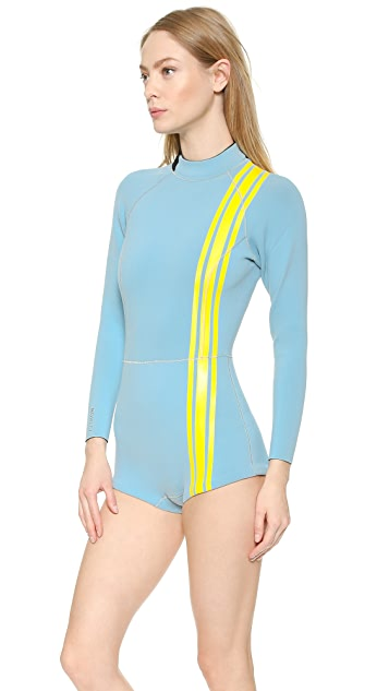 Cynthia Rowley Athletic Stripe Wetsuit