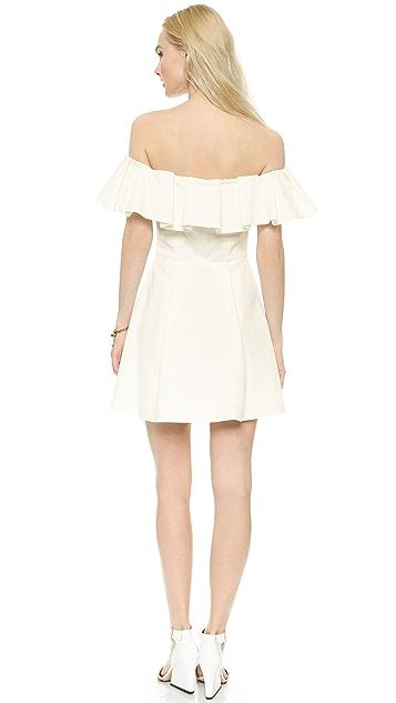 Cynthia Rowley Off Shoulder Ruffle Dress