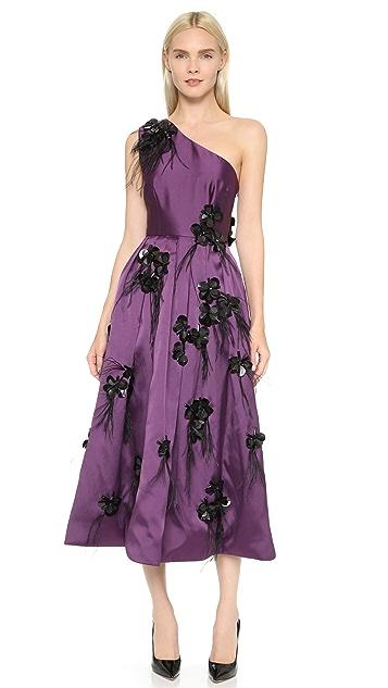 Cynthia Rowley One Shoulder Embellished Gown