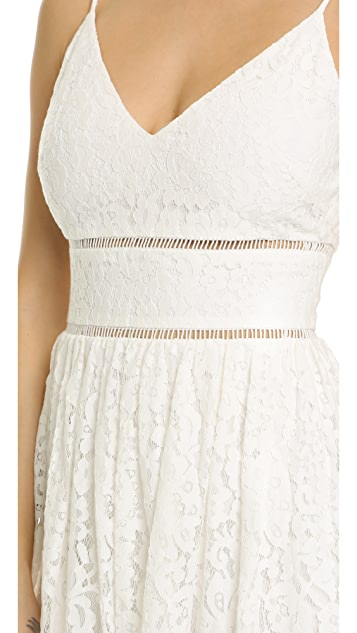 Cynthia Rowley Lace Midi Dress