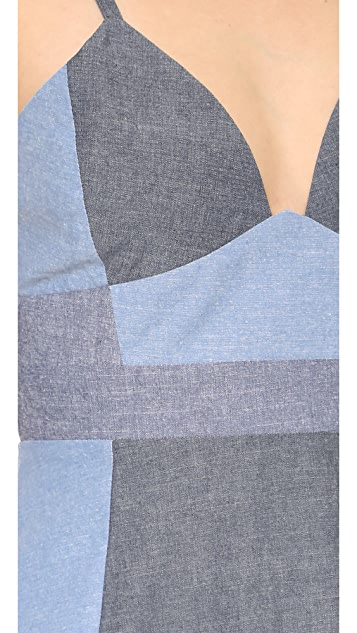 Cynthia Rowley Patchwork Slip Dress