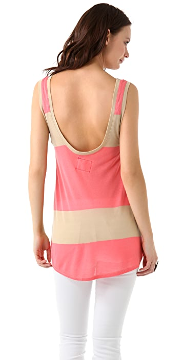 Daftbird Striped Low Back Tank
