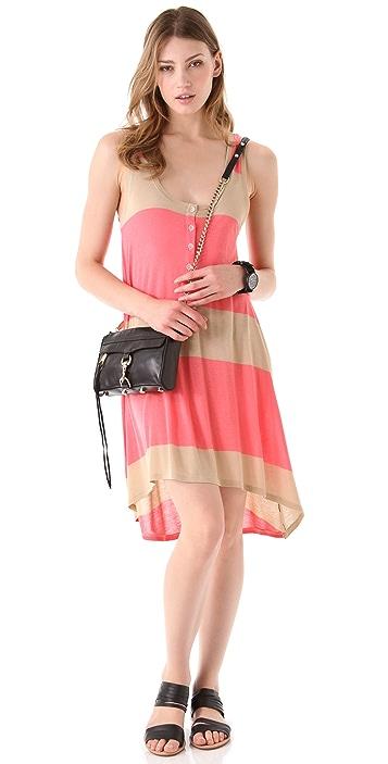 Daftbird Striped Henley Tank Dress