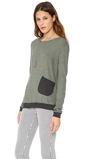 Daftbird Colorblock Pocket Top