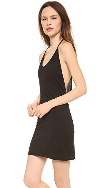 Daftbird Draped Back Tank Dress