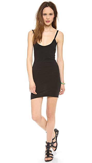 Daftbird Low Back Slip Tank Dress