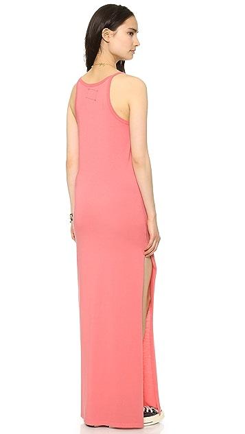 Daftbird High Neck Dress with Slit