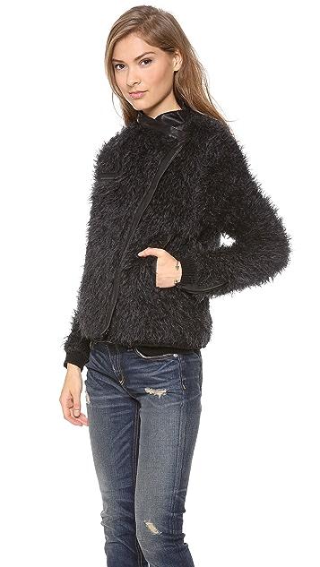 Dagmar Yrma Mohair Short Coat