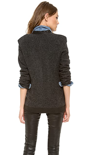 Dagmar Emiko Leather Trim Jacket