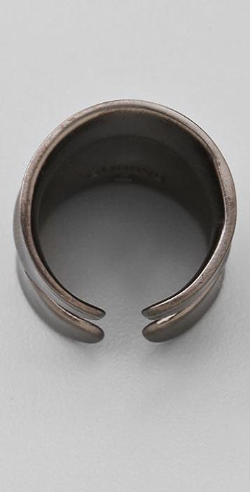 DANNIJO Jacinda Gunmetal Double Concave Ring