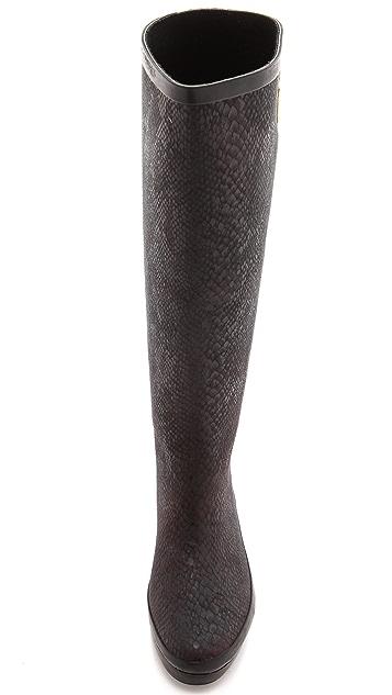Dav Austin Snake Embossed Rain Boots