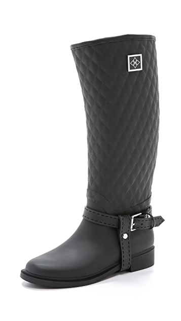 Dav Galway Quilted Harness Boots