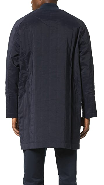 DDUGOFF Quilted Baseball Overcoat