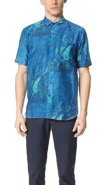 DDUGOFF Bag Print Short Sleeve Shirt