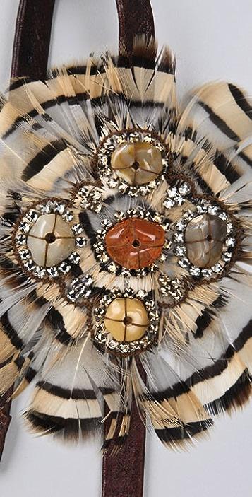 Deepa Gurnani Feather Headband